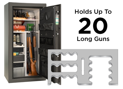 Premium 20 Feature Holds up to 20 long guns