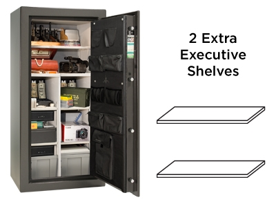 Premium 20 Feature Two extra executive shelves for more interior variations