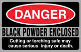 Danger - Black Powder Enclosed - Sticker