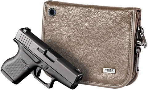 Sub-Compact Brown Leather Magnetic Handgun Case