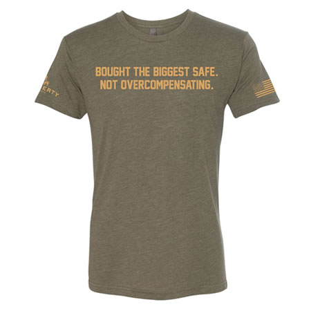 Liberty Military Green, Biggest Safe T-Shirt